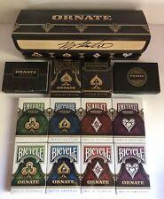 Ornate Playing Card Collection 10 Decks Sapphire Emerald Scarlet Amethyst w/ Box