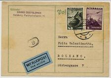 ÖSTERREICH 1936 FLUGPOST-KARTE! SALZBURG nach BOLZANO (Italien)
