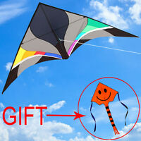 NEW 9.8ft POWER Triangle kite STUNT KITE single line Outdoor Toys Delta