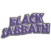 OFFICIAL LICENSED - BLACK SABBATH - WAVY LOGO METAL PIN BADGE ROCK OZZY IOMMI