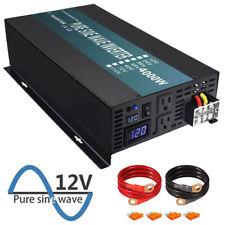 12V to 120V Pure Sine Wave Inverter 4000W Solar Power Converter 8000w Peak Camp