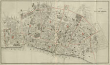 Plan of the City of London, by Walter Besant. LARGE 128x76 cm 1910 old map
