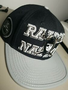 Men's Pro Standard NFL Las Vegas / Oakland Raiders Logo Strapback Hat leather