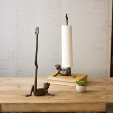Cast Iron Frog Paper Towel Holder Free Stand Floor Toilet Roll Holder Organizer