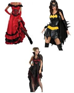 Halloween Womens vampire and Ball Gown Bat Girl Costume Adult Dress Gown S M