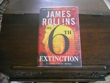 THE 6th EXTINCTION #9, James Rollins, SIGNED & DOODLED, 1st/1st print, 2014 HCDJ