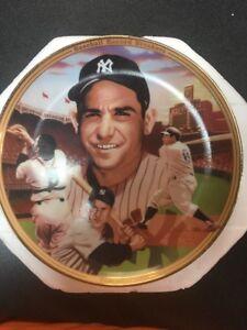YOGI BERRA baseball record breaker Plate Collectible C66