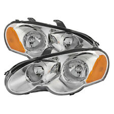 Chrysler 03-05 Sebring 2Dr Coupe Chrome Housing Replacement Headlight Left+Right