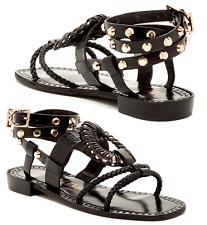 ff31e63432b50a Ivy Kirzhner Strappy Artemis Sandals Studded Flat Slingback 7 Wraparound  Shoe