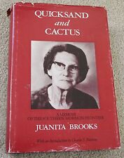 vintage HB JUANITA BROOKS Quicksand and Cactus Memoir Southern Mormon Frontier
