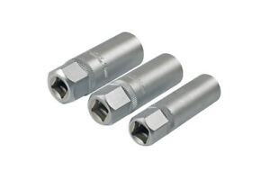 Laser 7295 3 Piece Thin Wall Spark Plug Socket Set