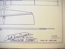 South Texas Slugger Slow Combat Control Line  Model Airplane Plans