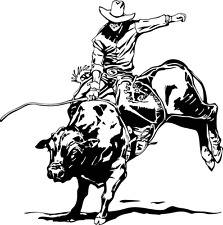 Bull Riding Decal WRA #5 Western Rodeo Truck Window Stickers