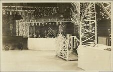 Decorated Room Interior For Fair Publ East Bridgewater MA Real Photo Postcard