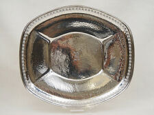 Hammered Sterling Silver Large Reticulated Platter Tray Wilcox & Wagner 9.52OZT