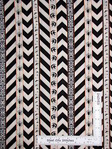 Halloween Chevron Stripe Black Cotton Fabric Wilmington Something Wicked By Yard