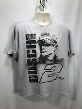 Kurt Busch #2 Penske Racing Miller Lite Nascar Heather Gray Tee T-Shirt