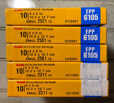 FROZEN 50 Sheet Lot of Expired Kodak Ektachrome 100 Plus 4X5 Sheet Film