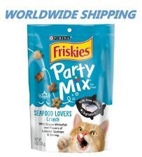 Purina Friskies Party Mix Cat Treats Seafood Lovers Crunch 6 Oz WORLD SHIPPING