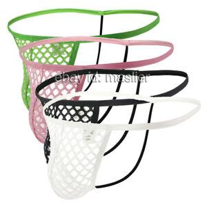 Men's String Micro Breathable Reticulation Bikini G-Strings Thong Underwear