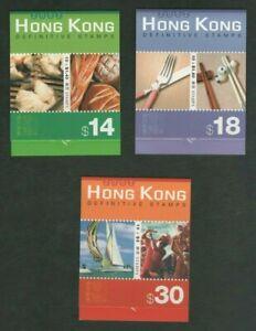 Hong Kong 2002 Definitive Booklets $14, $18, $30 Mint MNH Complete