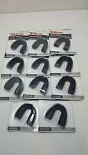 Lot Of 11 Wilson Single Density Strapless Youth Mouth Guards Black