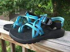 CHACO ZX2 UNAWEEP SPORT SANDALS WOMENS SIZE 7 USA MADE BLUE EUC