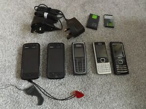 5 x NOKIA Working Mobile Phones Plus accessories