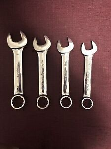 """Snap On USA Wrench Set - 4 PC - 13/15""""-1"""" - *READ DESC*"""