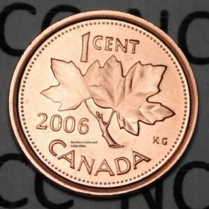 2006 Logo 1 Cent Canada Steel Nice Uncirculated Canadian Penny Magnetic