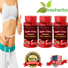 APPLE CIDER VINEGAR 850MG + B12 WEIGHT LOSS METABOLIC DIET SUPPLEMENT 252 CAPS