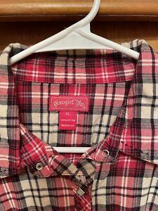 cowgirl up western shirt XL