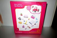 "Our Generation Shiny & New Car Wash Set Accessories For 18"" Doll  New in Box"