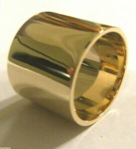 Size 12 / Y Kaedesigns Genuine 9ct Yellow Gold Solid 15mm Extra Wide Band Ring