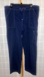 Hiking Pants Womans XL Blue Nylon Quick Dry Lightweight Drawstring Arizona Jeans