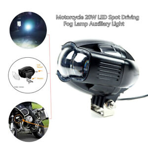 Auto Motorcycle 20W LED Spot Driving Fog Lamp Auxiliary Light Durable +USB Port