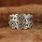 Handmade Fashion Flower Ring 925 Silver Plated Jewelry Women Wedding Party Rings