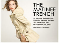 J. Crew Beige Khaki Matinee Trench Coat Belted Hooded Jacket P XS 2