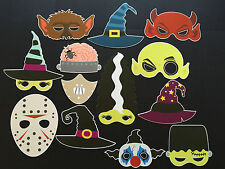 13 Piece Monster Mask Photo Booth Prop Set - Birthday, Halloween - Aust Made!