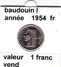 BF 3 )pieces de 1 francs  baudoui 1   1954  belgique &