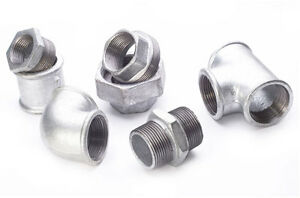 """Galvanised Malleable Iron Pipe Fittings  :  Size Range 1/4"""" to 4"""" BSP"""