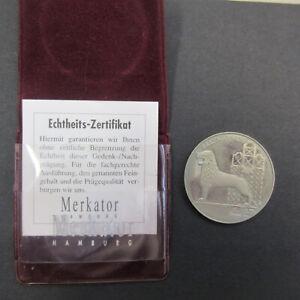 ZA235 Medaille Braunschweig - Ein Volk ein Vaterland - Merkator Zertifikat