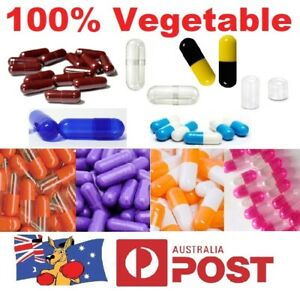 Size 1 2 3 4 0 00 000, Empty Vegetable Capsules Medicine Pill Vitamins Med Drug