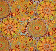 coupon de tissu patchwork kaffe fassett  millefiore orange 45x55cm
