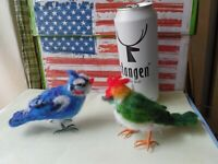 Needle felted wool birds mini sculpture one of a kind