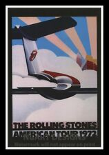 """Framed Vintage Style Rock 'n' Roll Poster """"THE ROLLING STONES - USA TOUR"""";12x18"""
