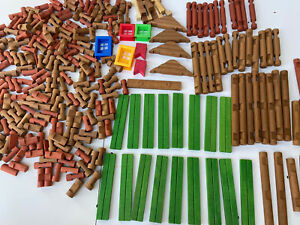 Bulk Tumble Tree Timbers (150 Pieces) Wood - Compatible with Lincoln Logs W/box