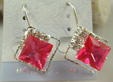 Crystal Pierced Earrings hot sell s1v5 charm Stylish Fashion Silver Plated Czech
