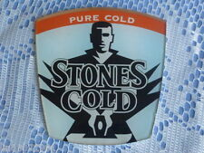 """STONES """" COLD """"  LARGE  FONT BADGE  ( from  BAR BEER FONT )."""