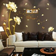 Gold Tulip Flower Wall Stickers Removable Decal Home Decor DIY Art Decoration...